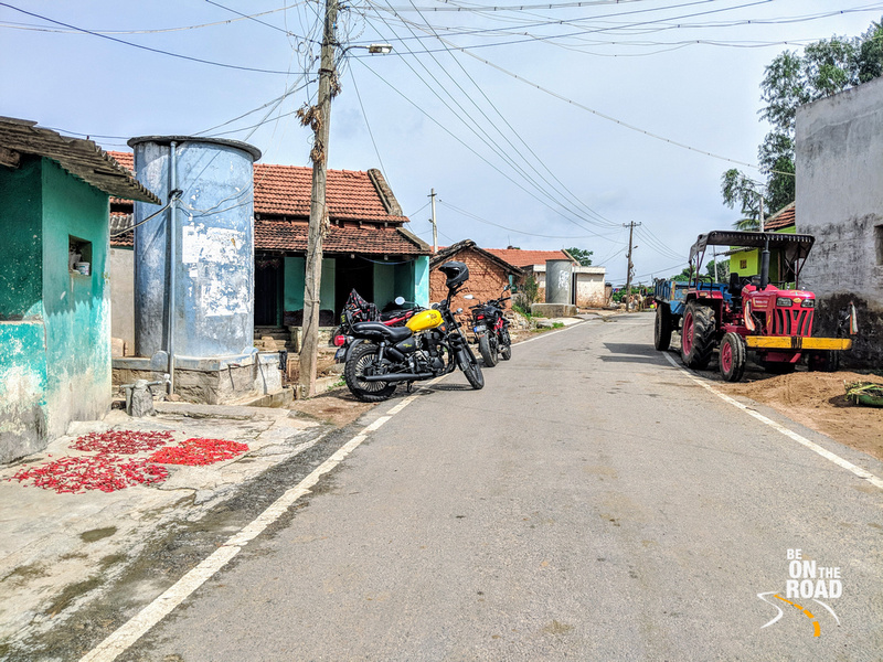 Riding through rural roads of Karnataka to reach Savanadurga