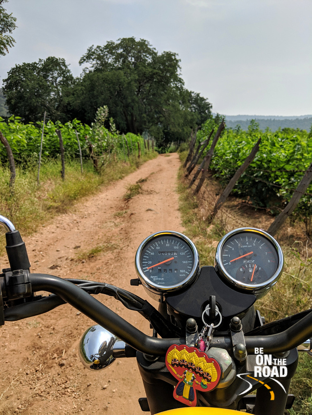 An off road ride by the mulberry farms of rural Tamil Nadu