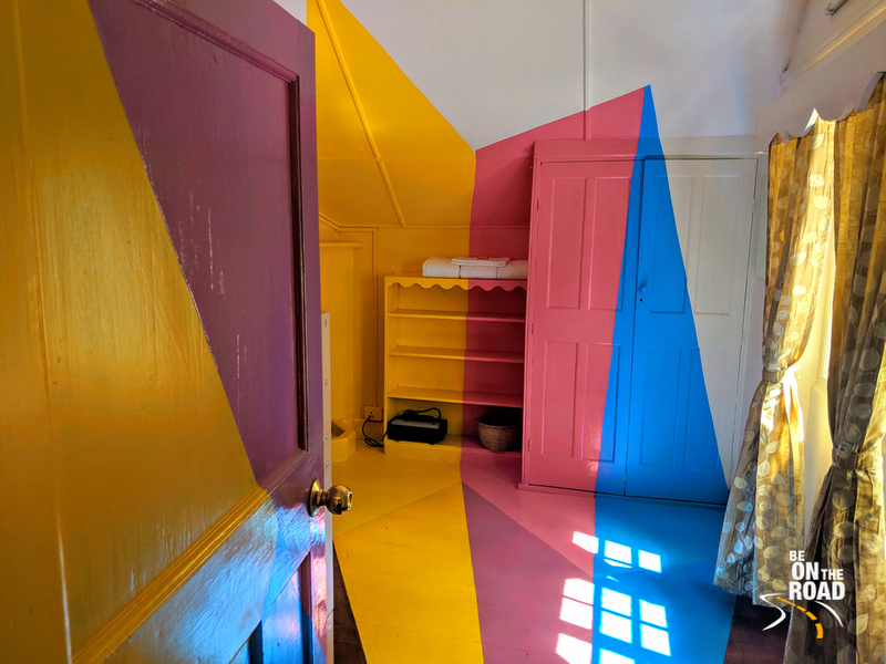 The super colorful and bright kid's bedroom at Gravityville, Ooty