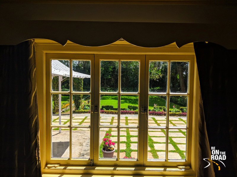 The view from the bedroom at Gravityville, Ooty