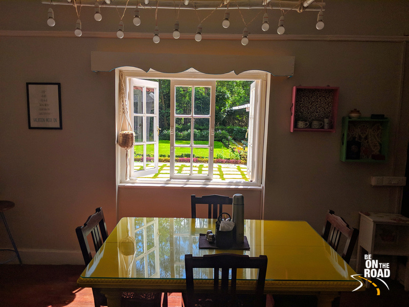 Dining room with the sunny view at Gravityville, Ooty