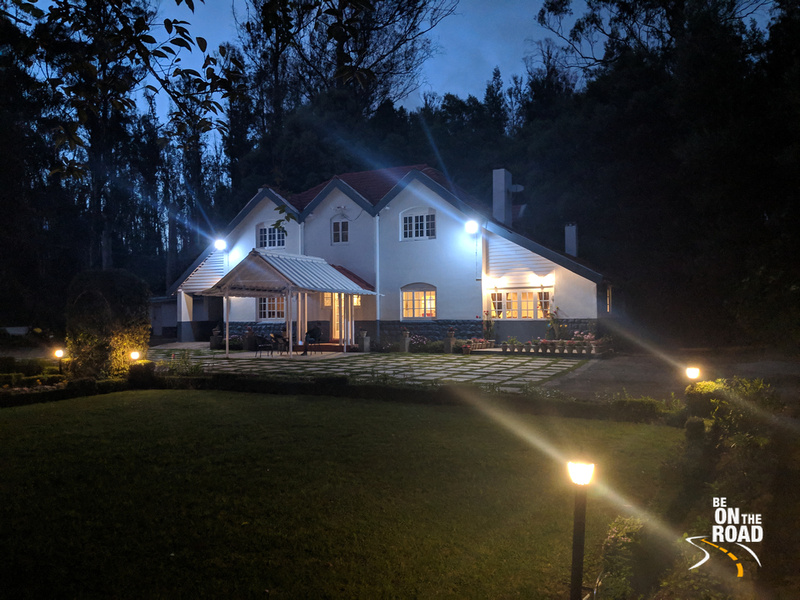 Gravityville property at night