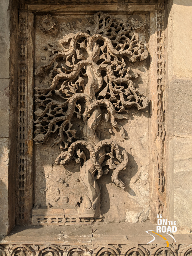 Tree of life sculpted on the walls of Jama Masjid, Ahmedabad