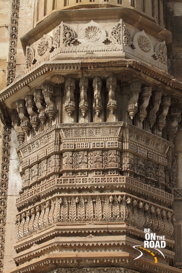 Intricate carvings on Jama Masjid walls, Ahmedabad