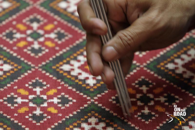 Weaving of Patola sarees in action at Patan, Gujarat