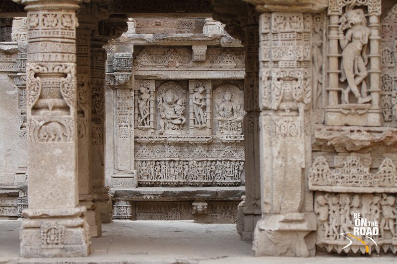 Ganesha and his consort along with other sculptures at Rani ki vav, Patan, Gujarat