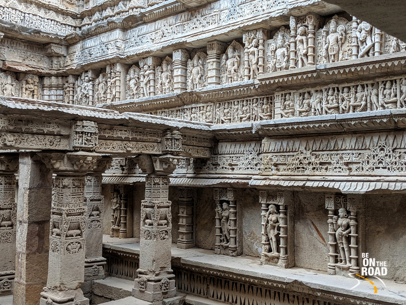Gorgeous interiors  of Rani Ki Vav, Patan