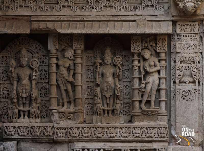 Lord Viishnu and Apsaras on the walls of Rani ki vav stepwell, Patan, Gujarat