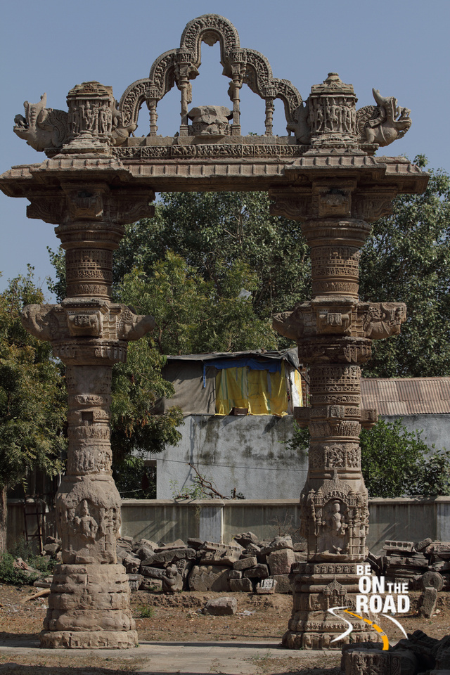 Beautiful pillar archway at Rudra Mahal, Siddpur, Gujarat