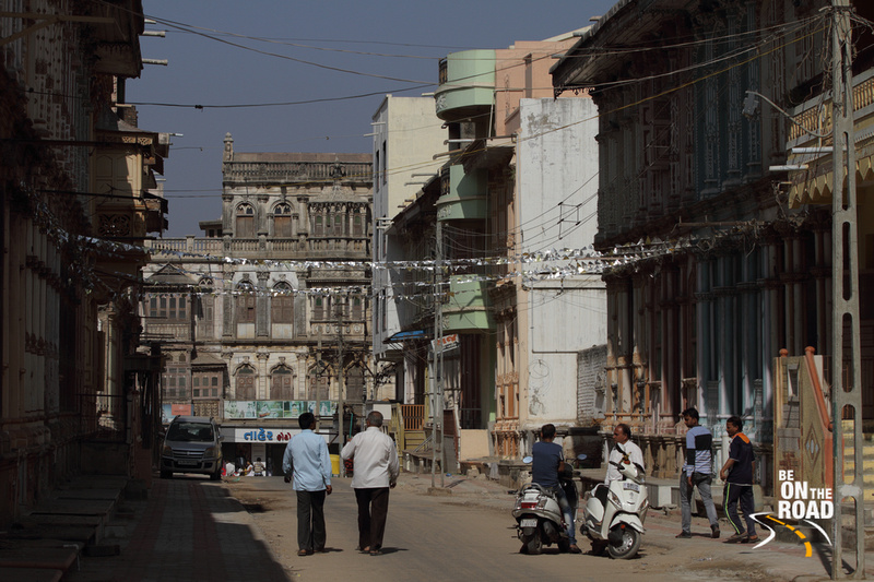 Pretty houses from the heritage town of Siddhpur in Gujarat, India