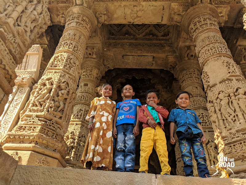 Kids all smiles at Modhera Sun Temple