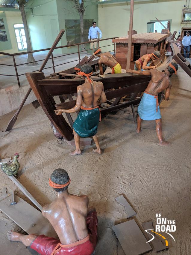 Boat at Odisha State Maritime Museum, Cuttack