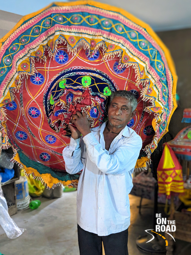 The traditional Chandua umbrella