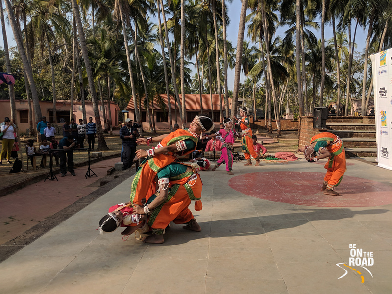 Goti pua dance in action at Raghurajpur, Odisha