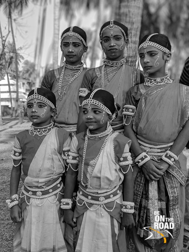 Raghurajpur Goti Pua Dancers in Monochrome