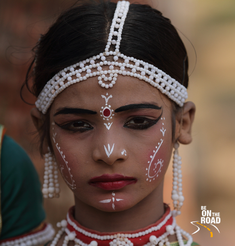 The face of a Goti Pua dancer, Raghurajpur