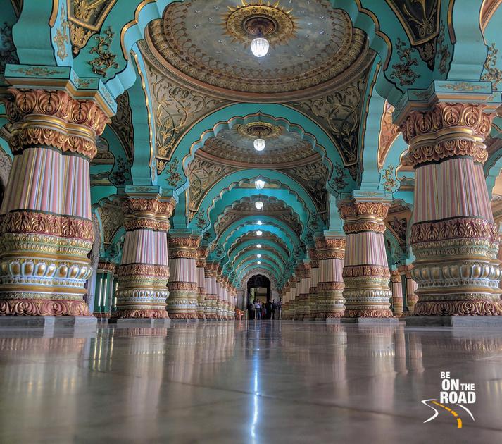 A photographers delight - Public durbar hall of Mysore Palace