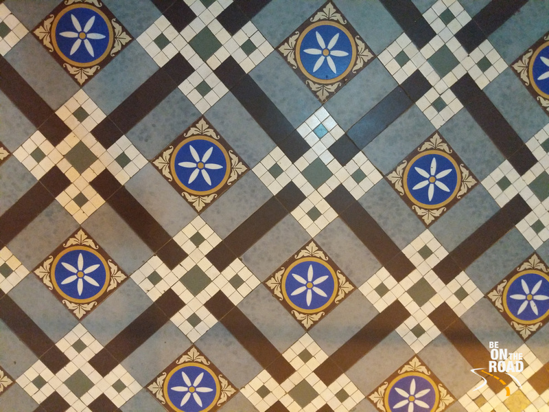 Exquisite flooring inside Mysore Palace
