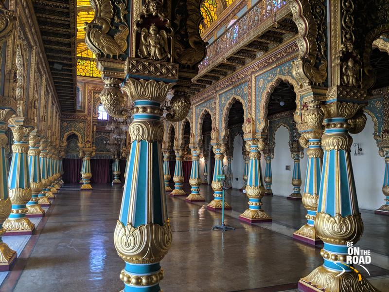 Opulent Private Durbar Hall inside Mysore Palace