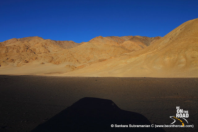 Sunset moment at the Changthang Cold Desert