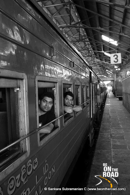 A view of the Heritage train at the colombo railway station
