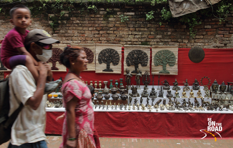 At a roadside souvenir shop in Patan, Nepal