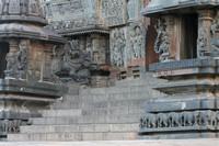 Side entrance to the Belur Channakeshava temple, Karnataka