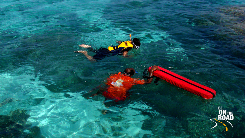 Snorkeling in the coral reefs of Lakshadweep Islands, India