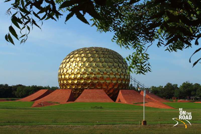 Matrimandir Peace Dome - under construction at Auroville