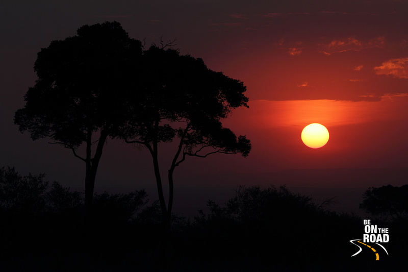 Orange hues of this Maasai Mara sunset, Kenya