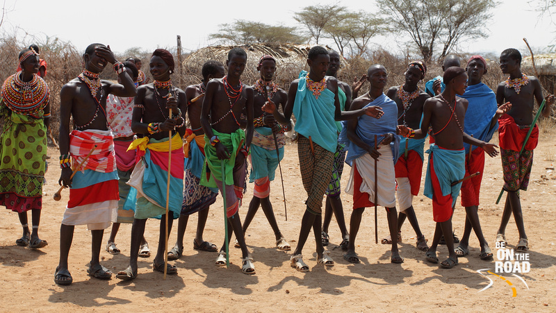 The Samburu Warriors strike a pose