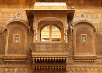 Grand work inside the palace of Jaisalmer Fort