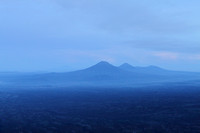 Twin Mountains as seen from Gunung Merapi, Indonesia