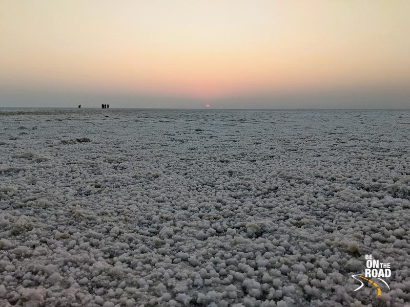 A winter morning sunrise from the White Rann Salt Desert