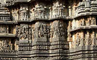 The stunning external walls of Hoysaleswara temple, Halebid, Karnataka