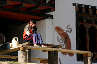 A scene from the streets of Punakha