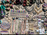 Jewelry handmade by the women of Bhirandiyara, Kutch