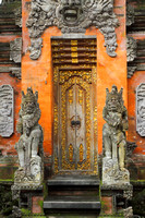 A door in Tirta Empul Temple, Bali, Indonesia