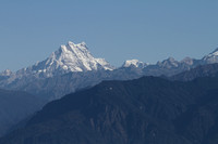 Snow capped mountain peaks seen in plenty at Dochu La, Bhutan
