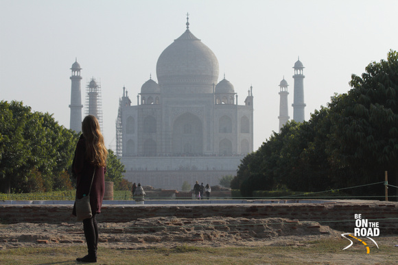 A jaw dropping view of the Taj Mahal from Mehtab Bagh, Agra