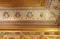 Intricate and grand ceiling inside the palace of Mehrangarh Fort, Jodhpur