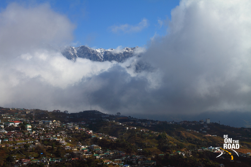 Eastern Himalayan peaks overlook the city of Tawang