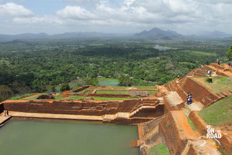 Ruins of an ancient civilization on top of Sigriya rock, Srilanka