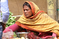 Portrait of local vegetable seller from Orchha, Madhya Pradesh