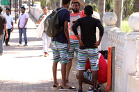 Matching colorful shorts on the streets of Velha Goa
