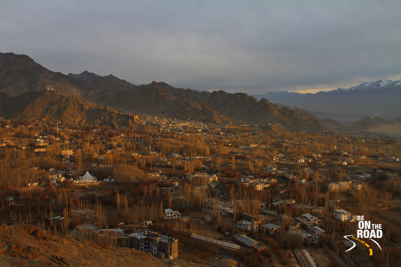 View of the Leh town from Shanti Stupa