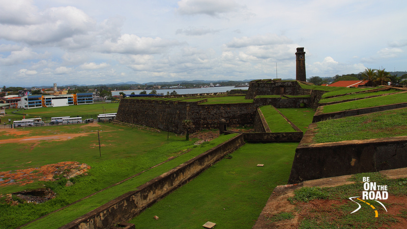 Galle Fort, Galle Cricket Stadium and the Indian Ocean - all in one view