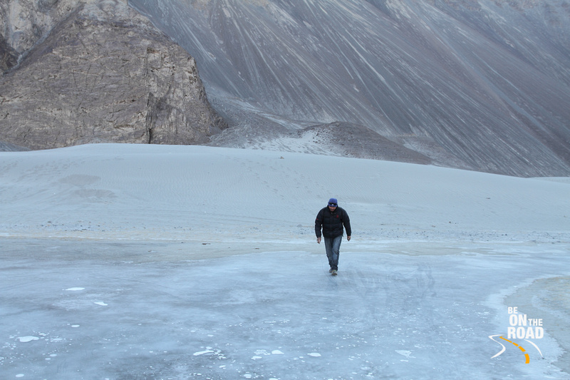 A natural skating rink in Nubra valley, Ladakh