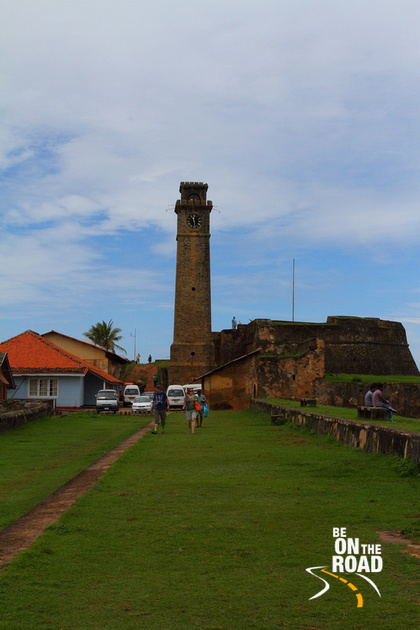 Galle Fort's famous clock tower - it stopped when the tsunami struck here in 2004