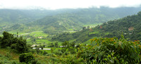 Green countryside of Pokhara, Nepal
